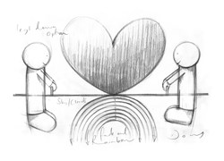 Love From A Distance Study by Doug Hyde -  sized 11x16 inches. Available from Whitewall Galleries